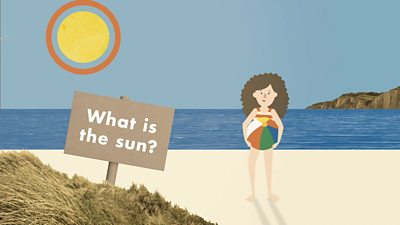 What is the sun? title card Bitesize Primary Weather