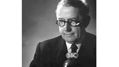 Lord Inman at a BBC microphone