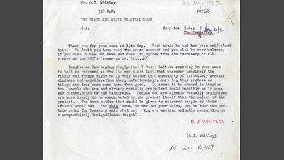 Typewritten internal memo, transcribed in article.