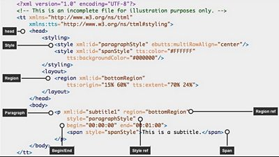 A script with tags like head, paragraph and other tags.