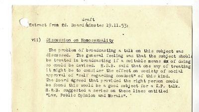 BBC internal memo 1953