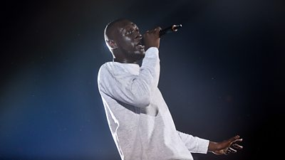 Stormzy on stage at 1Xtra Live in 2016
