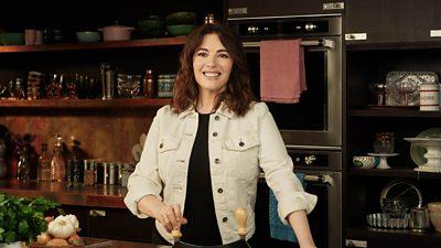 Nigella Lawson in her kitchen