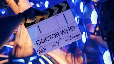 Doctor Who clapper board with '2nd November' written on it