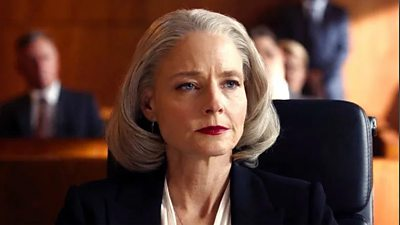 Jodie Foster in court playing Nancy Hollander. She looks steely eyed