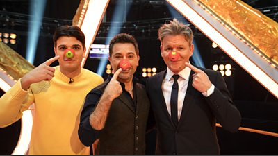 Luciano and Gino D'Acampo with Gordon Ramsay
