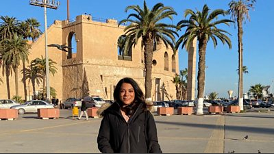 Ghufran Ashor, business manager, El Kul, pictured on the seafront in Tripoli.