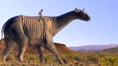 Paraceratherium and Footprint