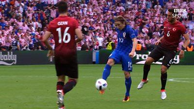 Luka Modric volley opens scoring for Croatia
