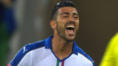 Graziano Pelle slots home a superb volley to secure a 2-0 victory for Italy over Belgium in Group E at Euro 2016.