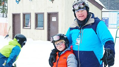 Tyra, Rhys and Truc: Rhys Has a Skiing Race with Dad