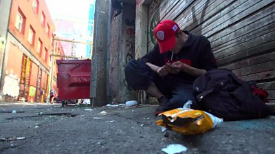 Drug user in Vancouver
