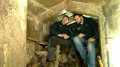 Daniel and Alex in bunker