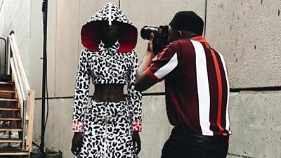Trevor Stuurman photographing model.