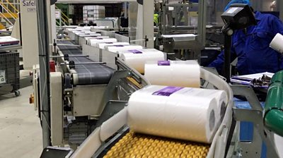 Toilet roll factory production line