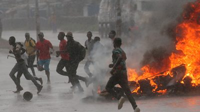 Protesters took to the streets of the capital over the government's sudden fuel price increase.