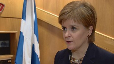 Scotland's First Minister Nicola Sturgeon says Theresa May's defeat is of 'historic proportions'.