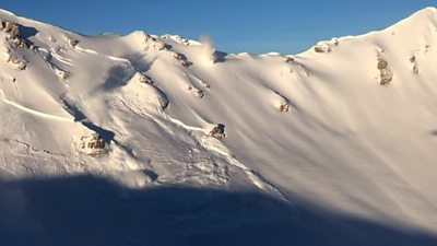 Explosive sets off controlled avalanche in Swiss Alps