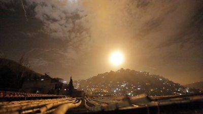 Syrian air defences intercept Iranian missiles around Damascus