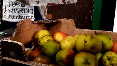 A recycled food shop has been set up in Edinburgh to prevent surplus food from shops ending up in the bin.