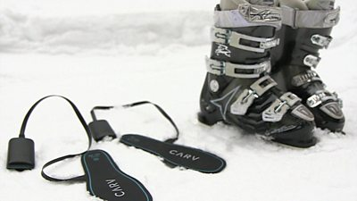 Ski boots and artificial intelligence ski instructor - Carv