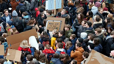 Young people skip school to protest