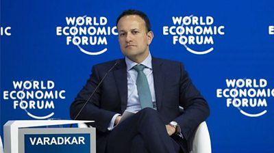 Leo Varadkar was speaking to Bloomberg TV at the World Economic Forum in Davos