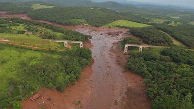 Dam collapsed at Brumadinho, Brazil.