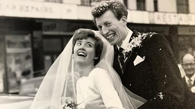 Maureen and Alan Blake on their wedding day