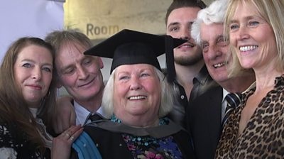 Hilary Forde-Chalkly with family at her graduation