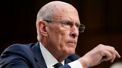 National intelligence director Dan Coats speaks in US Congress