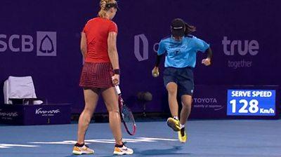WTA ball girl and Sabine Lisicki