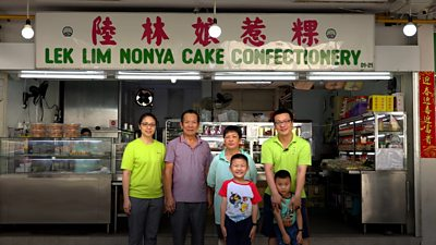 Gavan Sing's family of bakers stand in front of their shop