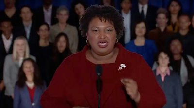 Stacey Abrams delivers the Democratic response to President Trump's State of the Union address.