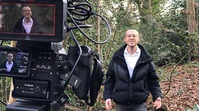 Michael Walker filming for This Week