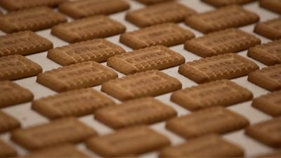 Parle-G biscuits on production line
