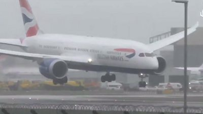 A British Airways plane faced difficulties when attempting to land at Heathrow Airport.