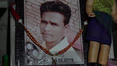 Alcohol poisoning victim in India