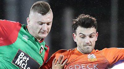 Glenavon's late goals seal win at Glentoran