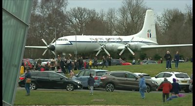 The flypast drew large crowds to RAF Cosford