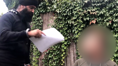 Deepa Singh confronts man on camera