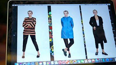 Click's Lara Lewington using the fashion app