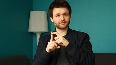 Actor Connor Bryson brings to life the Scots dialect in sign language.
