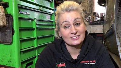 Louise Baker says women shouldn't mind getting dirty and enjoy working with cars.