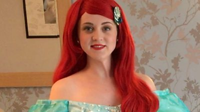Hayley Marie Ashley created her dream business by dressing up as princesses for children's parties.