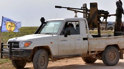 BBC Monitoring looks at how the demise of the Islamic State group is reported by opposing factions.