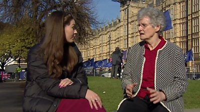 Rania and Barbara in Westminster
