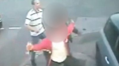 CCTV pictures show a scuffle outside a shop, which led to the murder of 34-year-old Daniel Fitzjohn.