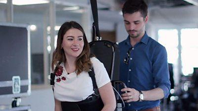 Floriane in the exoskeleton
