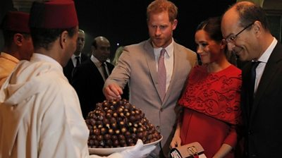 The Duke and Duchess of Sussex welcomed in Morocco